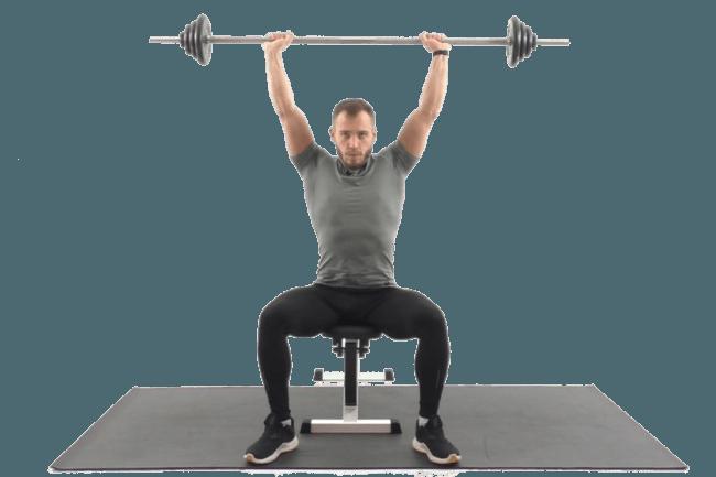 Упражнения на плечи со штангой.