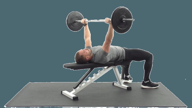 Упражнения со штангой для грудных мышц