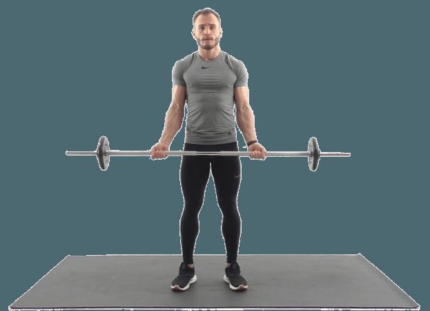 Упражнения на руки со штангой